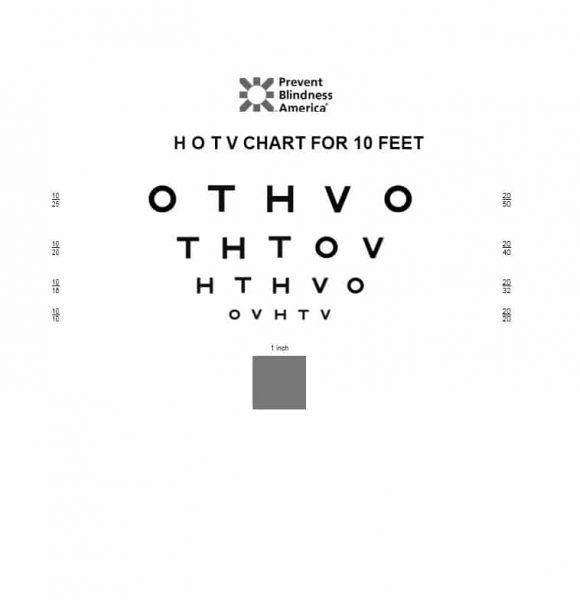 photo regarding Children's Eye Chart Printable named 50 Printable Eye Examine Charts - Printable Templates