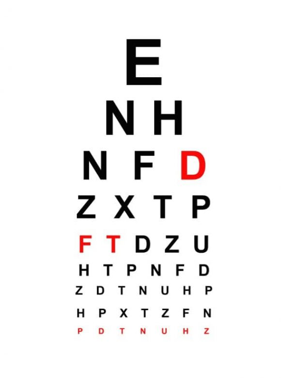 graphic about Printable Eye identified as 50 Printable Eye Consider Charts - Printable Templates
