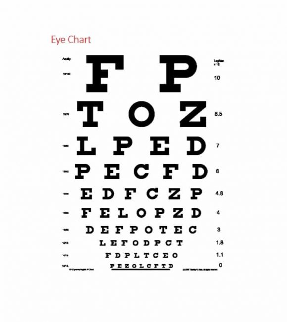 50 printable eye test charts printable templates for Ophthalmology exam template