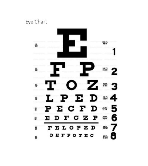 picture about Children's Eye Chart Printable known as 50 Printable Eye Try Charts - Printable Templates