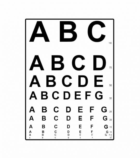 Eye Chart Template 16