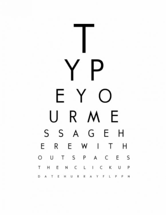 graphic relating to Children's Eye Chart Printable named 50 Printable Eye Consider Charts - Printable Templates
