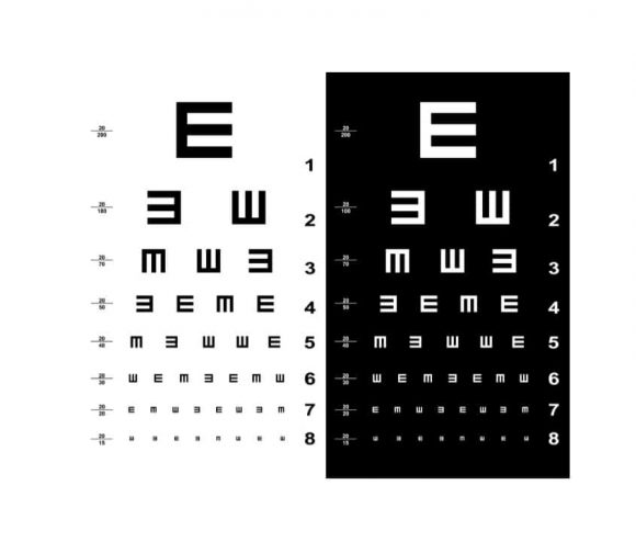 image about Children's Eye Chart Printable named 50 Printable Eye Consider Charts - Printable Templates