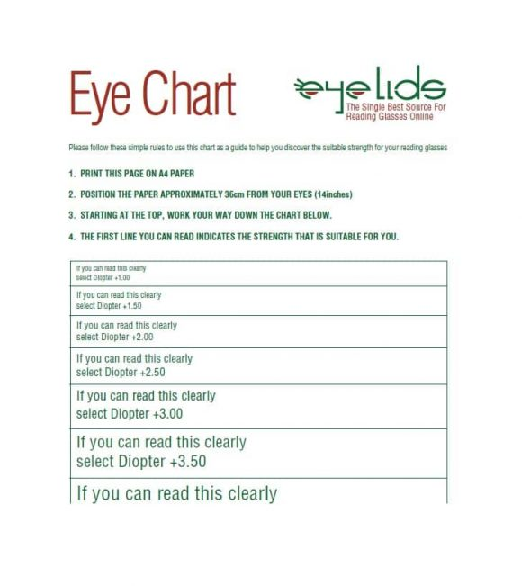 Eye Chart Template  WowcircleTk