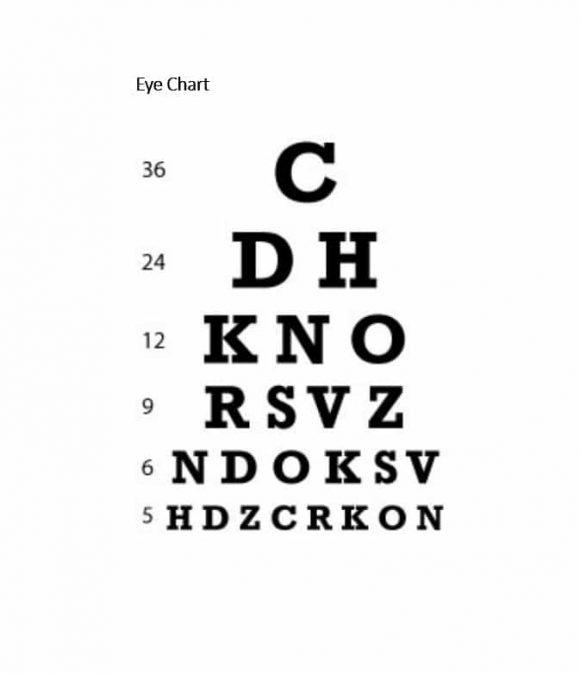 Eye Chart Template 45