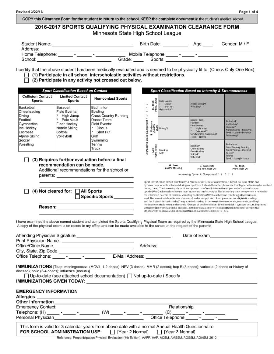 43 physical exam templates  u0026 forms  male    female