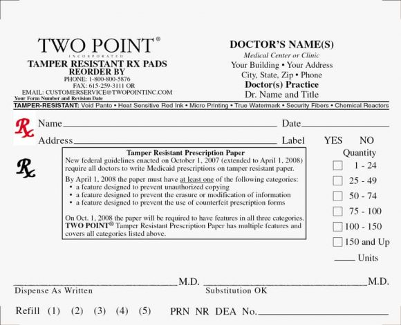 Real  Fake Prescription Templates  Printable Templates