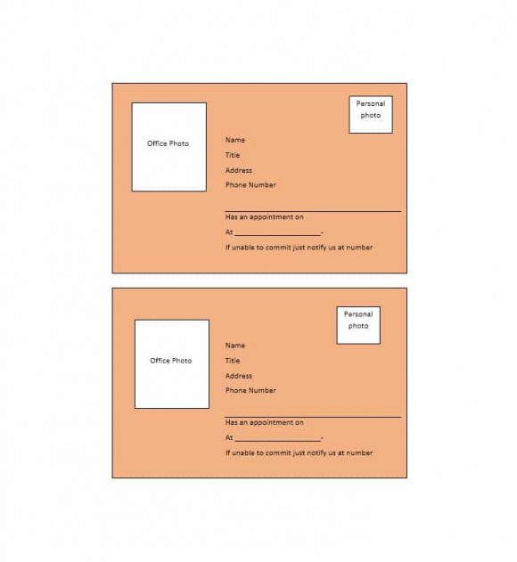 Appointment Cards Template 09
