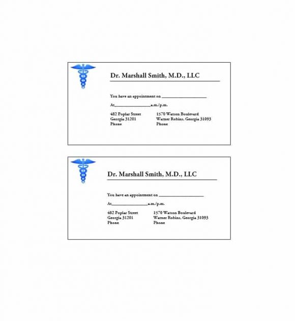 Appointment Cards Template 10