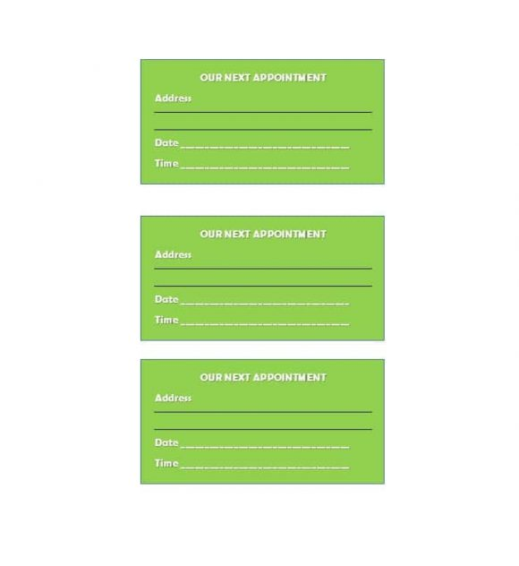 Appointment Cards Template 28