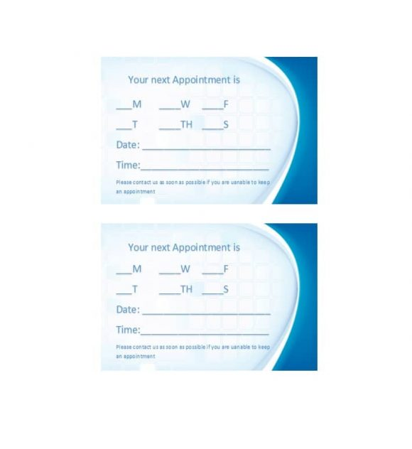 Appointment Cards Template 32