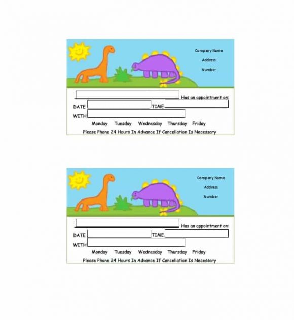 Appointment Cards Template 36