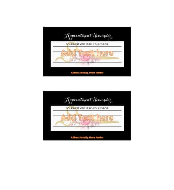 Appointment Cards Template 38