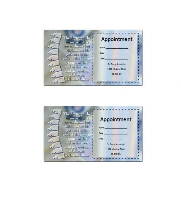 Appointment Cards Template 40