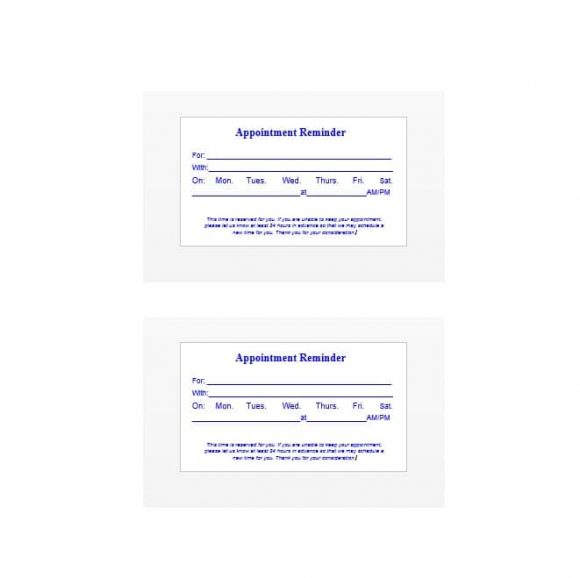Appointment Cards Template 41