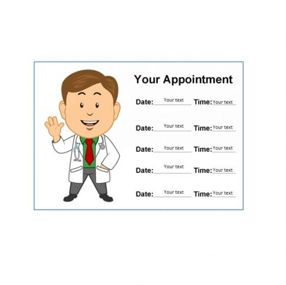 Appointment Cards Template 42