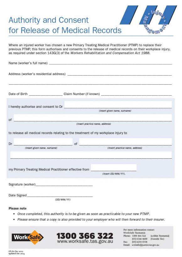 Medical Release Form 40