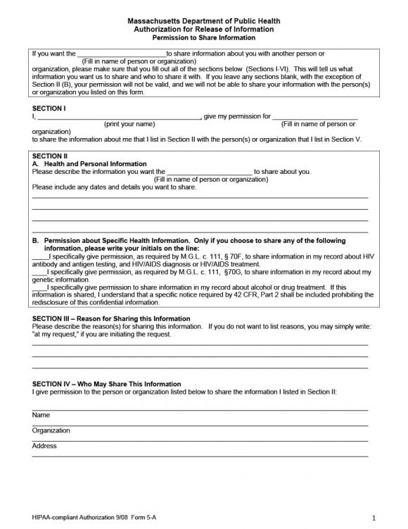 Great Medical Release Form 41