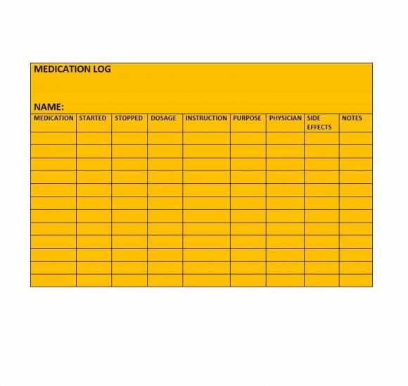 Medication List Template 10