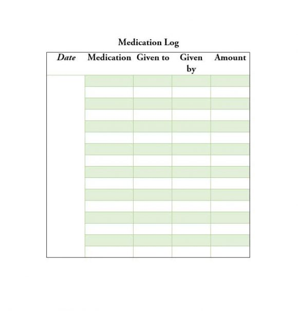 Medication List Template 13