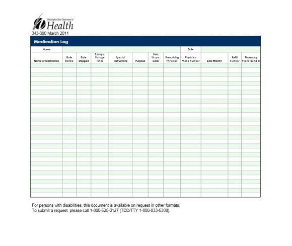 Medication List Template 14