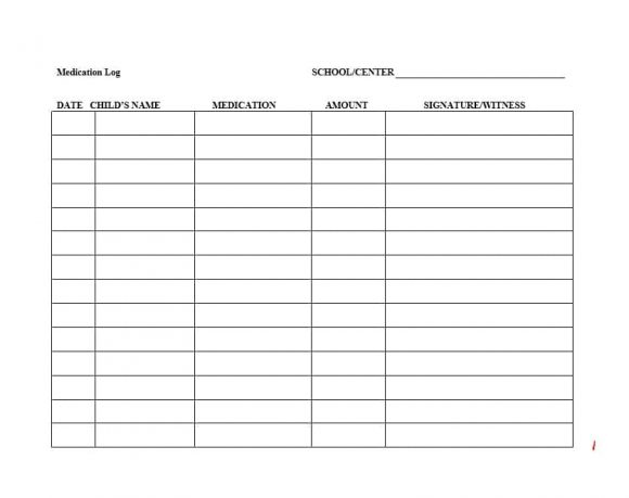 medication signing sheet template - medication log template free download champlain
