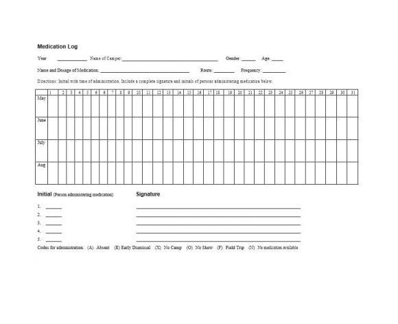 Medication List Template 35