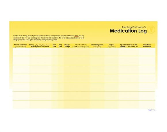Medication List Template 40