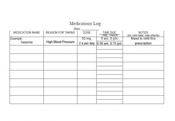 Medication List Template 48