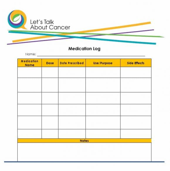 Medication List Template 49