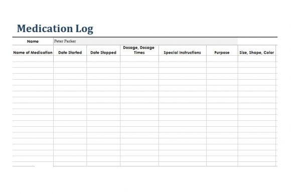Medication List Template 58