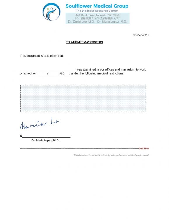Doctors Note Template 01  Note Template