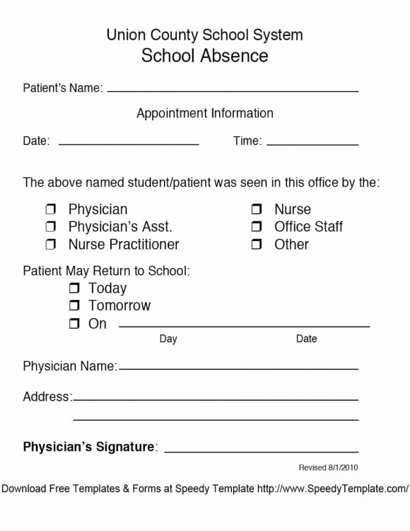Doctor's note templates 28+ blank formats to create doctor's excuse.