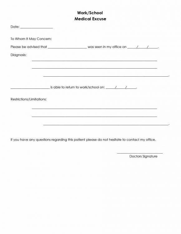 doctors note template 22