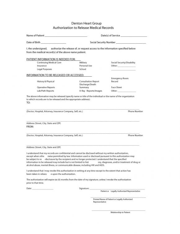 40 medical records release form release of information medical release form 17 thecheapjerseys Choice Image