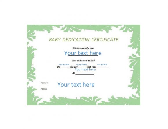 50 free baby dedication certificate templates