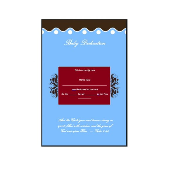 Baby Dedication Certificate Template 18