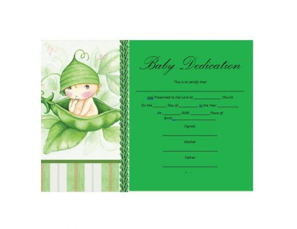 Baby Dedication Certificate Template 31
