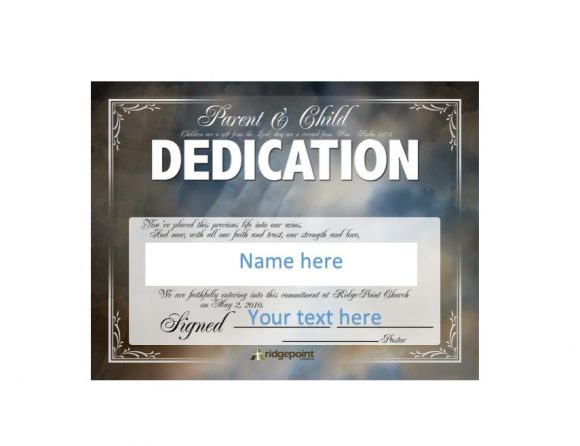 Baby Dedication Certificate Template 32