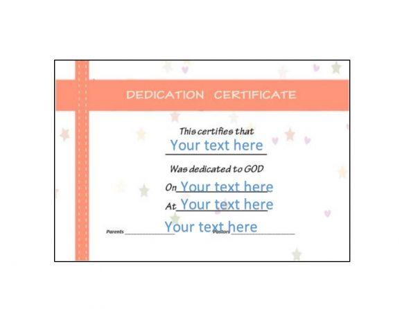 Baby Dedication Certificate Template 34