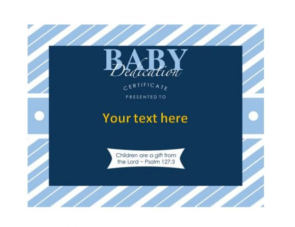Baby Dedication Certificate Template 37