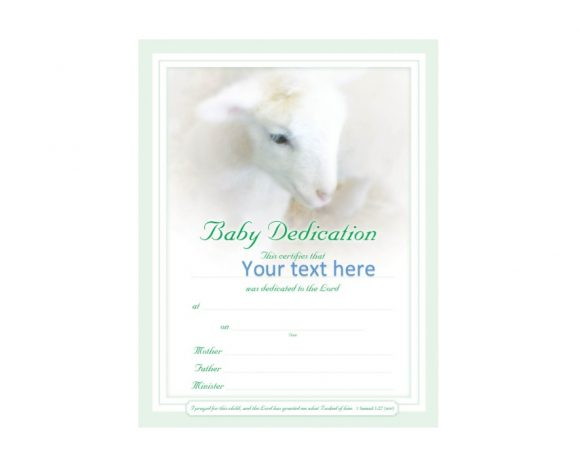 Baby Dedication Certificate Template 39