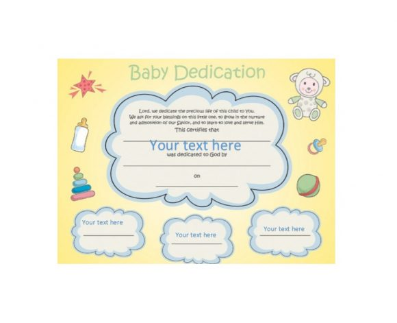 Baby Dedication Certificate Template 40