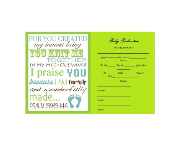Baby Dedication Certificate Template 41