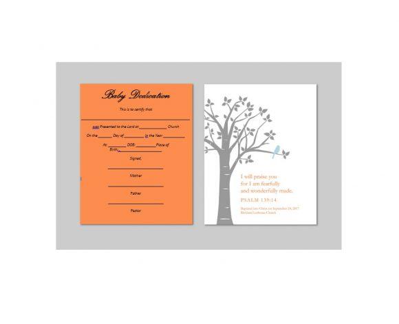 Baby Dedication Certificate Template 47