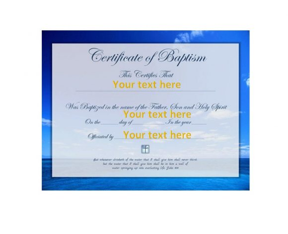 Baby Dedication Certificate Template 50