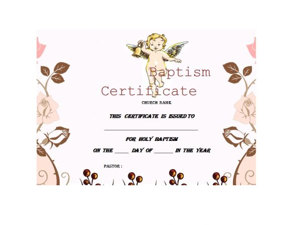 Baptism Certificate Template 04