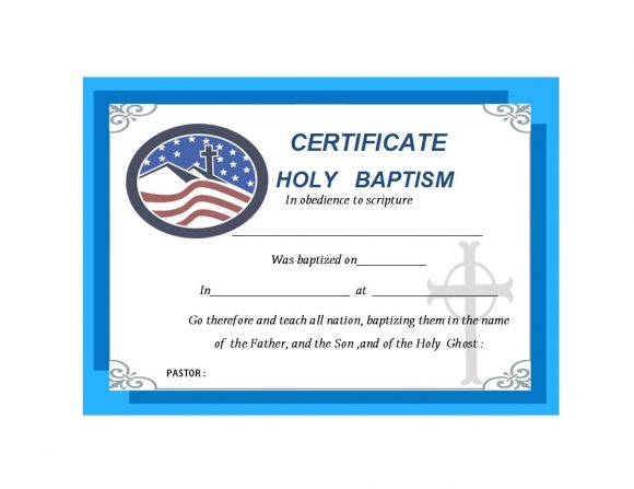 Baptism Certificate Template 05