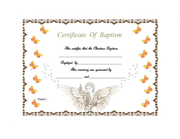 Baptism Certificate Template 08