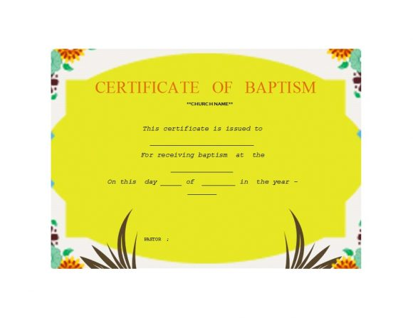 Baptism Certificate Template 09